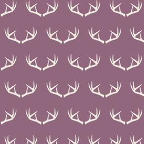 Antlers-Smokey Plum & Cream
