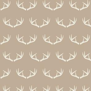 Antlers-Natural Beige & Cream