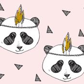 Panda pink SMALL PRINT - elvelyckan