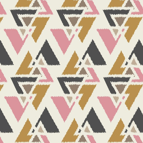 Stacked Triangles-Multi-Cream