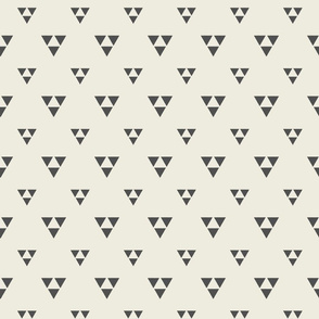 Trilogy Triangles-Lined-Cream & Dark Gray