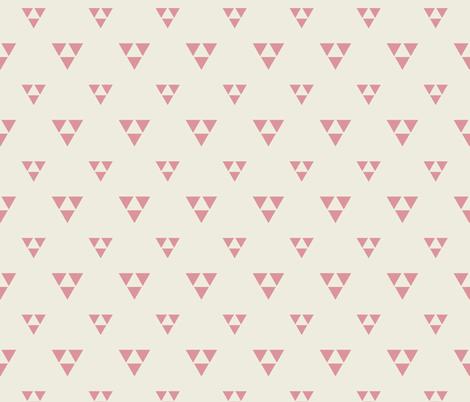Trilogy Triangles-Lined-Cream & Gypsy Rose fabric by bohemiangypsyjane on Spoonflower - custom fabric