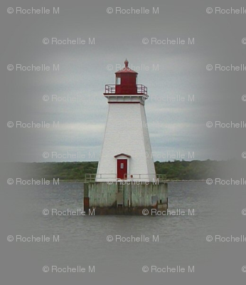 Lighthouse on Gray