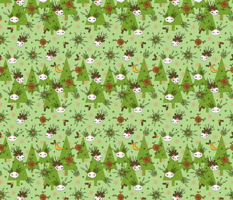 skelly forest fabric by skellychic on Spoonflower - custom fabric