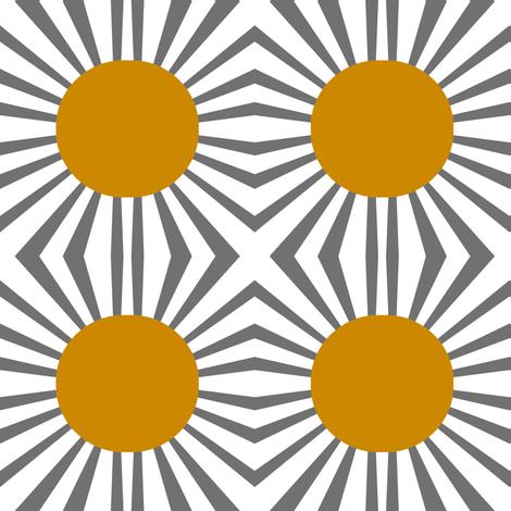 Sunrays fabric by esheepdesigns on Spoonflower - custom fabric