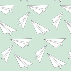 mint paper plane - elvelyckan