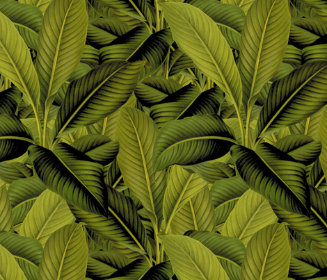 Palm In Palm ~ Profusion fabric by peacoquettedesigns on Spoonflower - custom fabric