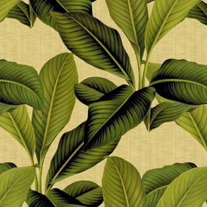 Palm In Palm ~ Trianon Cream Linen