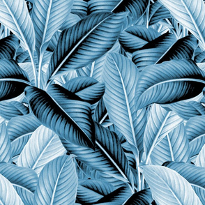 Palm In Palm ~ Profusion ~ Blue and White