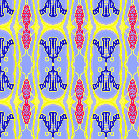 Blue and Red Formal fabric by robin_rice on Spoonflower - custom fabric
