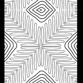 Tribal X and Diamonds with border