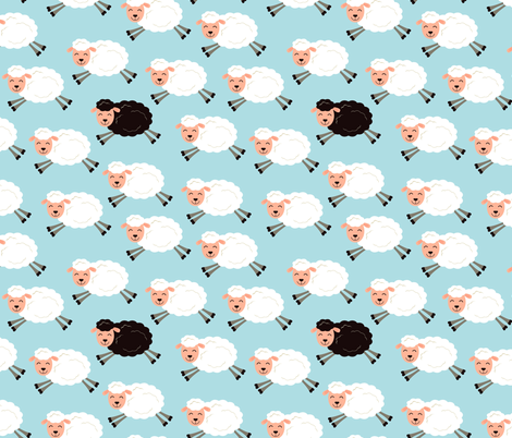 black_sheep_in_a_flock fabric by sticksandpins on Spoonflower - custom fabric