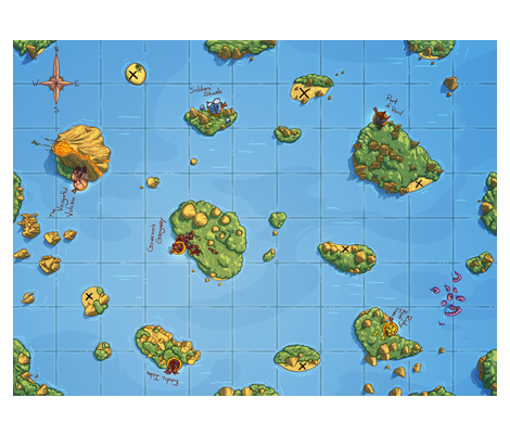 Scoundrels Game Map fabric by randyo on Spoonflower - custom fabric