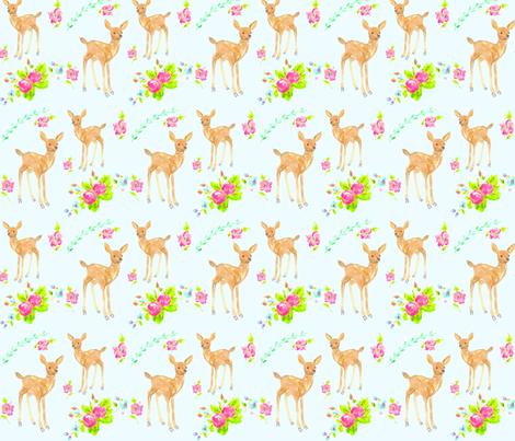 springtime fawns fabric by erinanne on Spoonflower - custom fabric