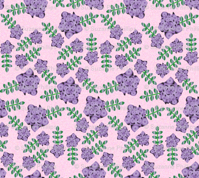 Psychedelic purple flowers