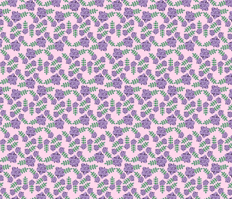 Psychedelic purple flowers fabric by susie-lotta_designs on Spoonflower - custom fabric