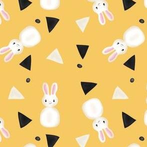 Bunnies in Yellow