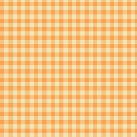 orange creamsicle gingham fabric by weavingmajor on Spoonflower - custom fabric