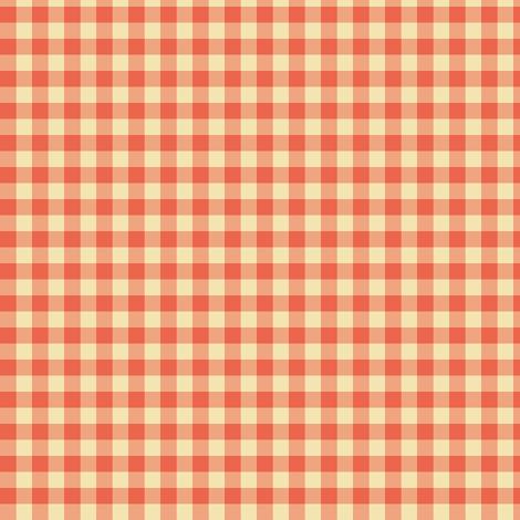 tangerine and cream gingham fabric by weavingmajor on Spoonflower - custom fabric