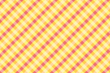 Happy Yellow Gingham fabric by sparklepipsi on Spoonflower - custom fabric