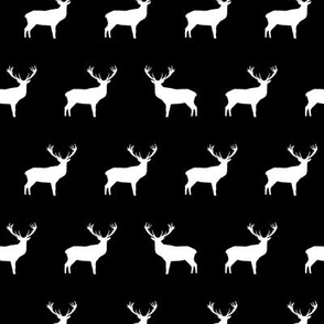 Black And White Deer