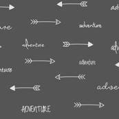 Adventure Arrows Cloud on Charcoal