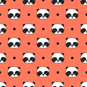 panda // coral panda cute pandas fabric best nursery fabric cute kawaii illustration for panda design andrea lauren fabric