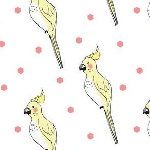 parrot yellow dot - elvelyckan