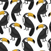 toucan // toucans bird summer tropical print fabric toucan fabric toucan design