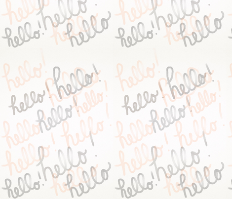 Hello! Is it me you're looking for? fabric by trizzuto on Spoonflower - custom fabric