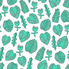 Tropical Leaves - Light Jade by Andrea Lauren