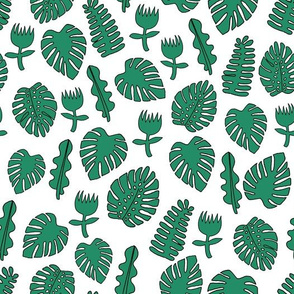Tropical Leaves - Green by Andrea Lauren
