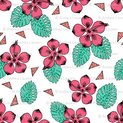 Hibiscus - Bright Pink by Andrea Lauren