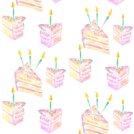 birthday cake fabric by erinanne on Spoonflower - custom fabric