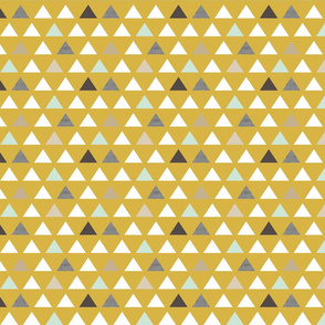 Mod Mustard Triangles half scale