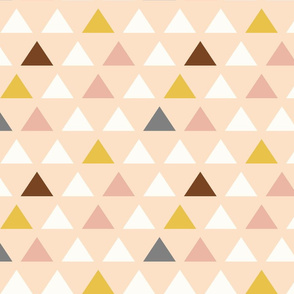Custom Blush Pink Triangles
