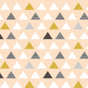 Blush Gray Mod Triangles