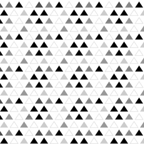 Black & White Triangles half scale
