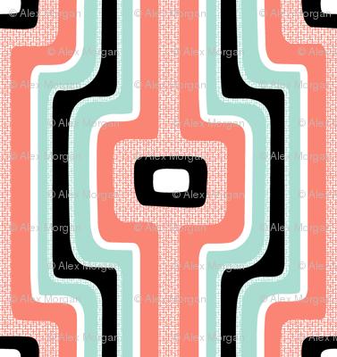 Coral Stripe Mod