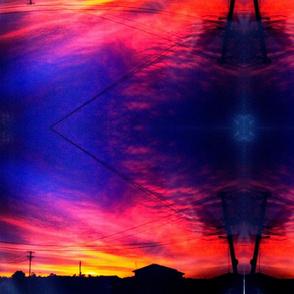 lake hts sunset
