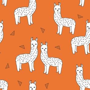 alpaca // orange llama fabric cute alpacas nursery baby design best alpacas fabric llamas design