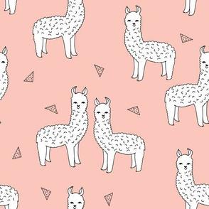 alpaca // pink alpaca llama fabric cute llama baby design fabrics andrea lauren design andrea lauren fabric