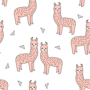 alpaca // pink alpaca fabric cute llama design best alpacas fabrics baby nursery fabric