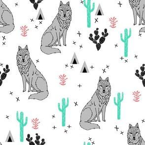 wolf // cactus fabric desert baby nursery design andrea lauren fabric
