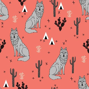 wolf // cactus fabric nursery baby design andrea lauren fabric