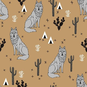 wolf // desert wolf fabric wolves fabric baby nursery design andrea lauren fabric