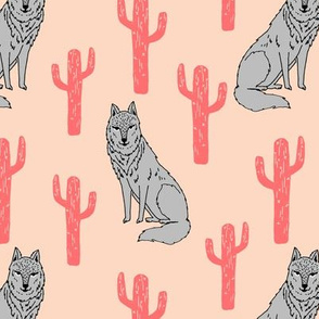 wolf cactus // blush fabric baby nursery andrea lauren fabric