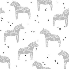 dala horse // grey dala horse fabric nursery baby grey design andrea lauren fabric andrea lauren design