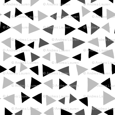 Tropical Triangles - Black and Grey by Andrea Lauren