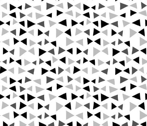 Tropical Triangles - Black and Grey by Andrea Lauren fabric by andrea_lauren on Spoonflower - custom fabric